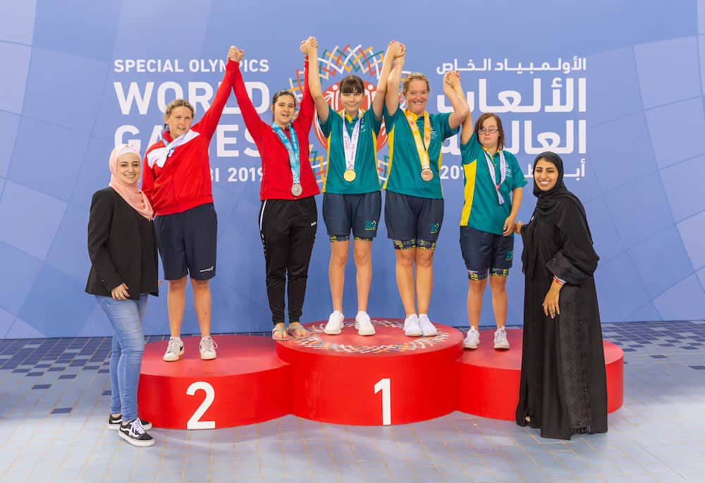 SWIMMING AWARDS SPECIAL OLYMPICS WORLD GAMES The Studio Dubai